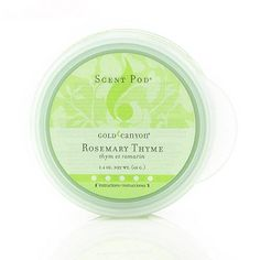 Rosemary Thyme Scent pod last up to 20 hours or more.NEW Pricing on ALL Pods this Summer! Gold Canyon Candles, Burning Candle, Scented Candles, Candle Holders, Fragrance, Summer, Summer Time, Porta Velas, Perfume