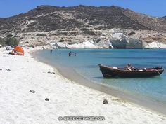 Prassa beach in Kimolos Cool Photos, Amazing Photos, Greek Wedding, Crete Greece, Tourist Spots, Greece Travel, Greek Islands, Places To Travel, Boat
