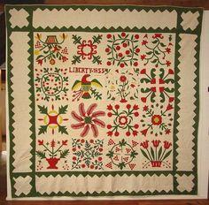 "Antique Dealers Association of America - ""Liberty 1855"" Album Quilt"