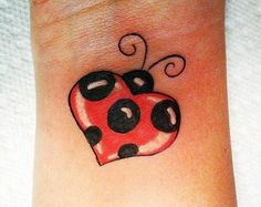 Heart Shaped Ladybug Tattoo