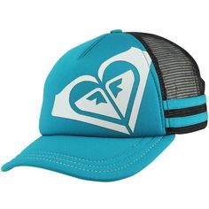 Roxy Dig This Trucker Hat Blue and Black Cap 9b3c2881ec4