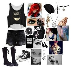 """""""End Up Here - 5 Seconds Of Summer"""" by leia-albin ❤ liked on Polyvore featuring VILA, Converse, Nails Inc., Free People, claire's, Aéropostale, Xhilaration, Misbehave and Halogen"""