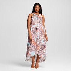 Women's Plus Size Halter Neck Printed Maxi Dress - Spenser Jeremy
