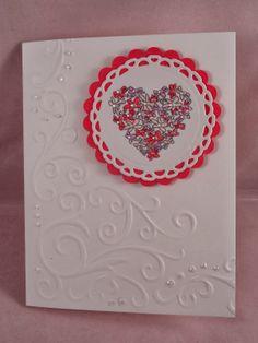Uniquely Me: Corner Embossed Valentine card