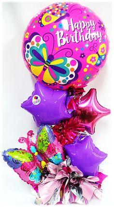 Arreglo de Cumpleaños Estándar Mariposas!! www.globocentro.com.gt
