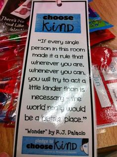 Kind pledge Wonder Bulletin Board, Kindness Activities, Teaching Kindness, Class Activities, Educational Activities, Wonder Palacio, Rj Palacio, Teaching Reading, Wonder Book Quotes