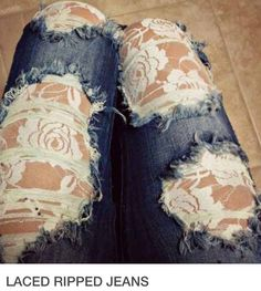 Beautiful Lace Jeans! DIY!