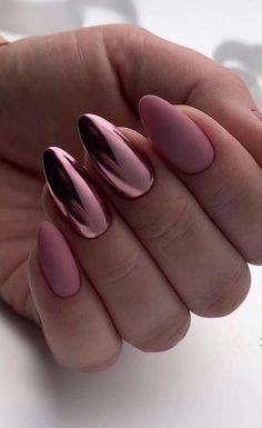 39 Hottest Awesome Summer Nail Design Ideas for 2019 Part 27 - Summer Nails - Nagellack Cute Acrylic Nails, Acrylic Nail Designs, Nail Art Designs, Nails Design, Metallic Nails, Matte Nail Art, Matte Nails Glitter, Matte Nail Colors, Silver Nail