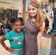 "Photos: Trinitee Stokes Visited The Cast Of ""Jessie"" November 14, 2014"