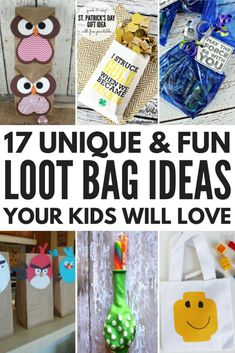 Looking for unique loot bag ideas for girls and for boys? We've rounded up 17 cheap DIY party goodie bag ideas your kids will absolutely love. Whether you're celebrating a birthday, milestone, holiday, or ringing in the new year, these bu Diy Party Goodie Bags, Goodie Bags For Kids, Loot Bags, Birthday Party Favors, Birthday Party Games For Kids, Birthday Gift Bags, 10th Birthday Parties, Birthday Fun, Toddler Party Favors
