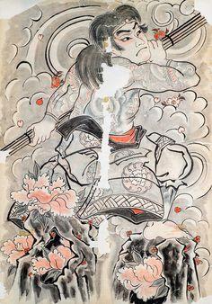 Irezumi / japanese Tattoo / Horiyoshi 3 / Woodprint