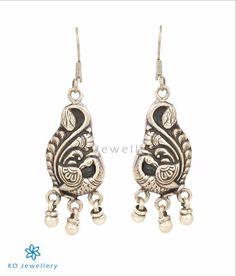The Vanini Silver Pea Earrings
