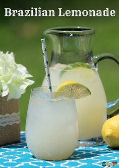 Brazilian Lemonade is a wonderfully refreshing option to serve at an Olympics inspired summer party this year