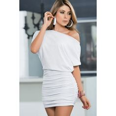 White dress clubwear dresses