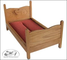 Amish-made Doll Bed sized to fit American Girl Dolls