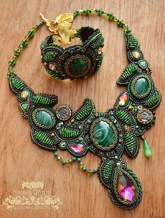 Beautiful embroidered jewelry by Nataly Uhrin   Beads Magic