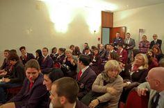 Studenti e docenti accompagnatori durante la tavola rotonda del IX° GPAV - Hotel Papadopoli Venezia