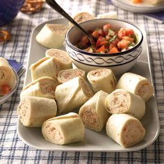 Chicken & Bacon Roll-Ups July 4th Appetizers, Best Party Appetizers, Bacon Appetizers, Appetizer Recipes, Sandwich Recipes, Picnic Recipes, Appetizer Dips, Party Snacks, Lunch Recipes
