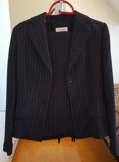 Schwarzer Nadelstreifen Hosenanzug Zara, Blazer, Jackets, Fashion, Pant Suits, Black Man, Reach In Closet, Stripes, Fashion Women