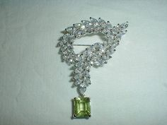 vintage nolan miller brooch crystal cz by qualityvintagejewels