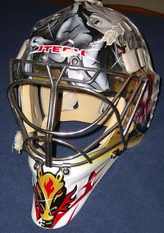 CALGARY FLAMES Phillipe Sauve game-worn 2005-06 ITECH goalie mask VERY RARE ITEM