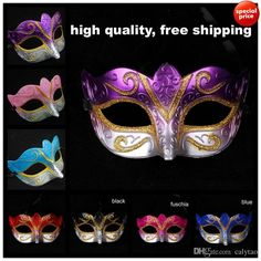 Free shipping, $0.42/Piece:buy wholesale On Sale Party masks Venetian masquerade Mask Halloween Mask Sexy Carnival Dance Mask cosplay fancy wedding gift mix color free shipping from DHgate.com,get worldwide delivery and buyer protection service.
