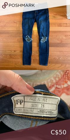 Free people jeans Only worn a couple of times. In great condition. Are size 26, but fit more like a 25. Free People Jeans Skinny