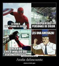 Tan sólo riete y ya esta #detodo # De Todo # amreading # books # wattpad Memes Marvel, Marvel 3, Avengers Memes, Marvel Comics, Marvel Universe, Best Memes, Funny Memes, Black Spiderman, Laughter