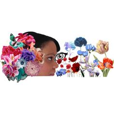 Auto-portrait flower 3, created by sara-ki on Polyvore
