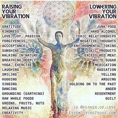 Raising and lowering our vibrations, every day, in every way.