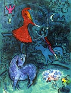 Marc Chagall - Le Cirque, Plate VI. Color Litograph.