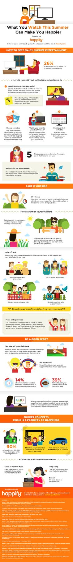 INFOGRAPHIC: What You Watch This Summer Can Make You Happier