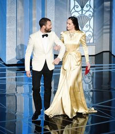 Jamie Dornan and Dakota at the Oscars