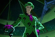Images and videos of the arrogant and egotistical mastermind known as the Riddler from DC Comics. Batman Tv Series, Batman The Animated Series, Lego Batman Games, Bane Batman, Character Bio, The New Batman, Arkham City, Arkham Knight, Riddler