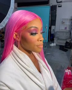 Pink Wig, Purple Hair, African Braids Hairstyles, Braided Hairstyles, Lace Front Wigs, Lace Wigs, Sew In Wig, Cover Girl Makeup, 100 Human Hair Wigs
