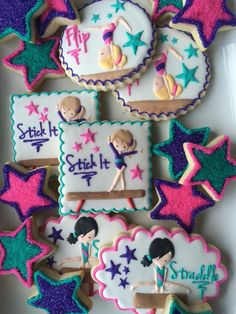 Gymnastics Birthday Platter by Sweet T's Cookiehouse