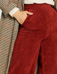 Pantalon velours côtelé ample - Retro   Stradivarius France edcd55b20c2b