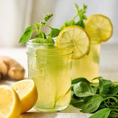 - D E T O X W A T E R - Lemon Ginger and Basil Water - INGREDIENTS - ♣4 pieces of ginger ♣1/2 cup basil leaves ♣2 lemons ♣4 tablespoons agave syrup ♣8 cups boiling water - INSTRUCTIONS - 1.Place the ginger and basil leaves in a large pitcher.  2.Cut the lemons in half and squeeze the juice into the pitcher, being careful to catch the seeds.  3.Place the lemon halves into the pitcher. 4.Pour the boiling water into the pitcher and stir in the agave syrup. 5.Let steep until cool and then…