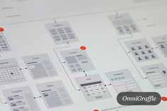 Website Flowcharts and Site Maps OG  on Creative Market #wireframe #webdesign #layouts #premium