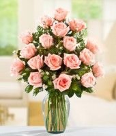 I like the color of these pale pink roses