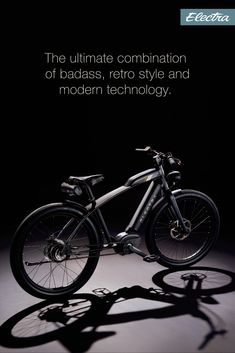 This café racer-inspired ride takes the concept of e-bikes to the next level. The Café Moto Go! is the ultimate combination of badass, retro style and modern technology. Electra Bicycles, Electra Bike, Harley Davidson Street Glide, Harley Davidson Bikes, Cafe Moto, Motorized Bicycle, Full Face Helmets, Car Upholstery, Mini Bike