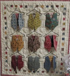 The House on the Side of the Hill: One Flower Wednesday Cute Quilts, Small Quilts, Mini Quilts, Baby Quilts, Memory Quilts, Patchwork Quilting, Applique Quilts, Necktie Quilt, Shirt Quilt
