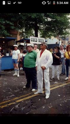 Angelo Prisco (dressed in white) was a member of East Harlem's Purple Gang and a captain in the Genovese family. Got sentenced to life in jail on a murder charge.