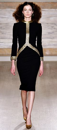 L'Wren Scott FW 2013-14 RTW Collection 06 - amazing black and gold costume, one of my favorite...