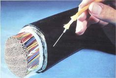 Want to know the difference in size and composite of Fiber Optics and Copper? Here you go.