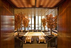 The Four Seasons Restaurant, NYC, designed by Philip Johnson.