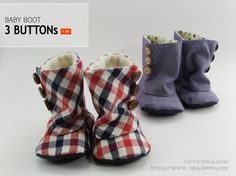 Tutorial: Baby Buttoned Boots