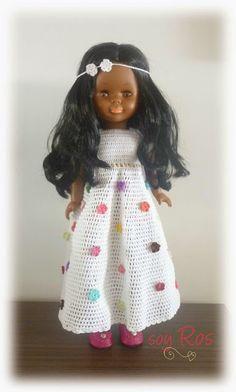 soy Ros: Vestido de crochet hecho a mano para la muñeca Nancy