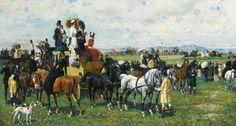 Giuseppe Gabani (Italian, 1846–1899) The derby reale