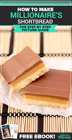 This easy millionaire shortbread recipe is the perfect step by step guide! Packed with pictures and top tips every step of the way, you literally can't go wrong. (Also known as caramel slice & caramel shortbread. Caramel Shortbread, Shortbread Recipes, Shortbread Biscuits, Shortbread Bars, Impressive Desserts, Easy Desserts, Millionaire Shortbread Recipe, Cake Recipes, Dessert Recipes